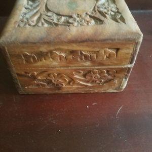 Hand Made Storage & Organization - Hand Carved Teak Box